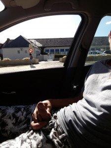 exhib voiture raser la bite